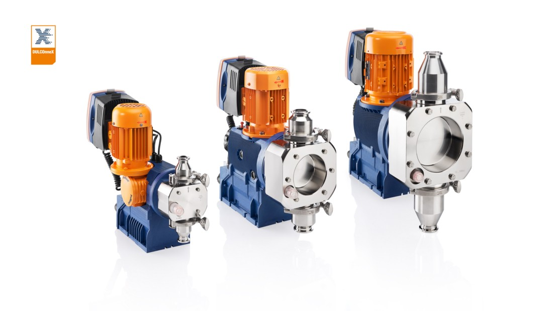Hygienic design of motor-driven metering pump Sigma