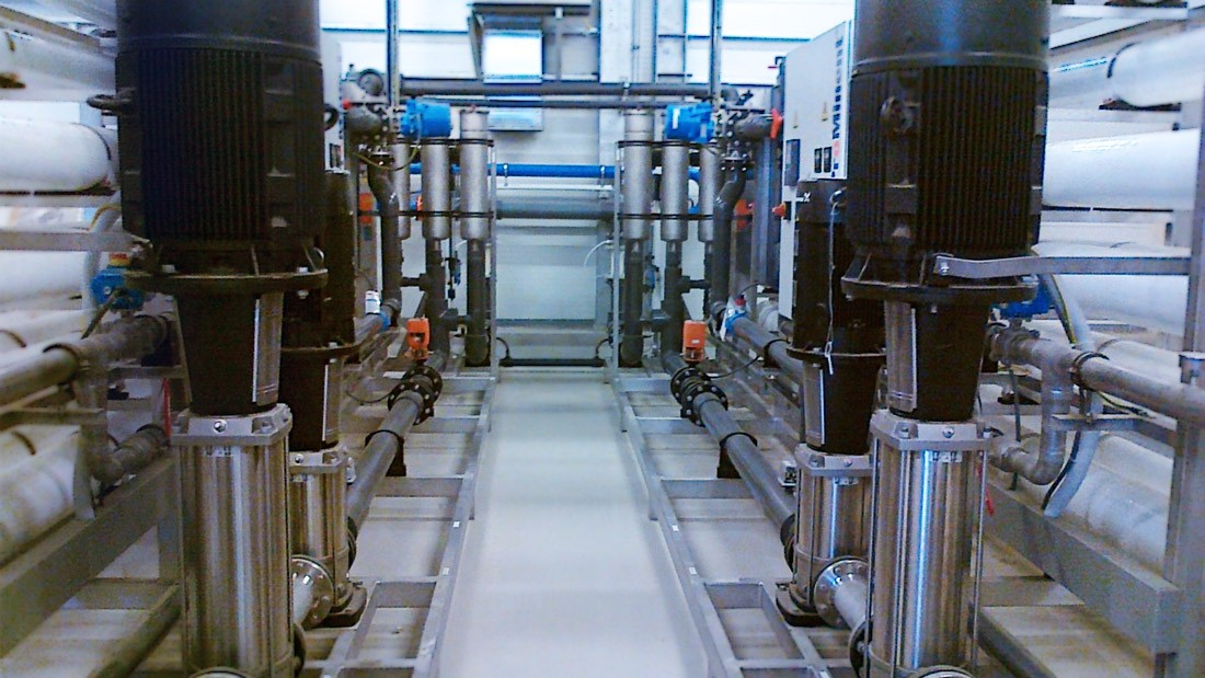 Well water treatment for ethanol production